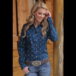 Cruel Girl Western Shirt Blue