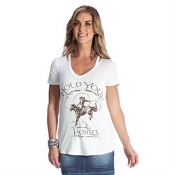 "Wrangler Women's ""Hold Your Horses"" Graphic Tee"