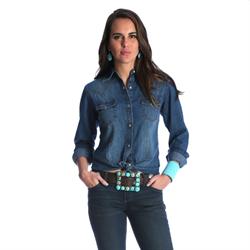 Wrangler® Checotah Fashion Top - Denim