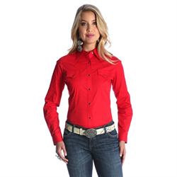 Wrangler Checotah Fashion Top Red